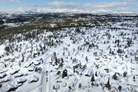 HYTTEBRÅK: Det er mange hytter på Blefjell - og noen driver hytteutleie. Det fører noen ganger til konflikter. Dette bildet er fra Lifjell-området. Foto: Arild R. Hansen