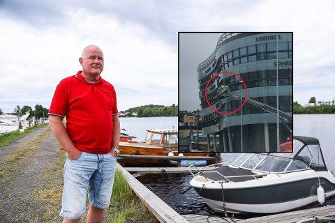 REAGERER: Rolf Geir Hillestad i Fellesforbundet blir lettere provosert når arbeidsfolk settes i sving på 1. mai. Fritzøe eiendom beklager hendelsen.