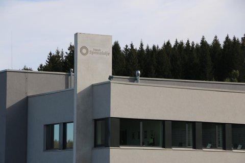 ULYKKE: En person fikk kjemikalier i ansiktet på anlegget til Norsk Spesialolje AS i Bamble.