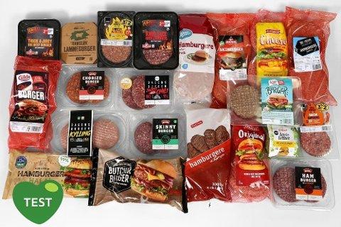 UTVALG: Det finnes mange forskjellige hamburgere ute på markedet. Foto: Erik Helgeneset