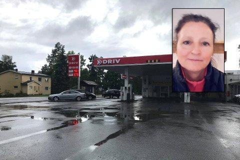 FORTVILET: Tone Gimle ble meget overrasket da hun betalte 300 kroner mer for drivstoffet enn det hun fylte for. Regelendring, oppklarer bensinstasjonen og Bits. Foto:Roger Ødegård/Privat