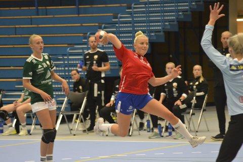 TOPPSCOREREN I RUTE: Maria Solheim scoret ni ganger. De fleste på kontringer. FOTO: TOM EIK BAUGERUD