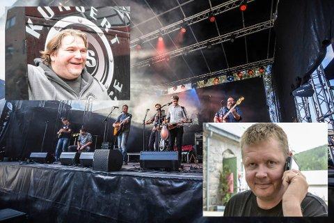 OPPGJØRETS TIME: Vegard Finnekåsa (øverst til venstre) har saksøkt Jørgen Solberg (nederst til høyre) etter konkursen i Kartfestivalen 2018.