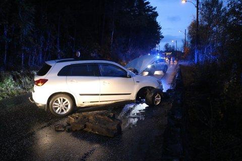 ULYKKE: Kvinnen prøvde bare å unngå å treffe et ekorn da det gikk galt. Nå skal kommunen utbedre veien og gjøre sikkerheten bedre.