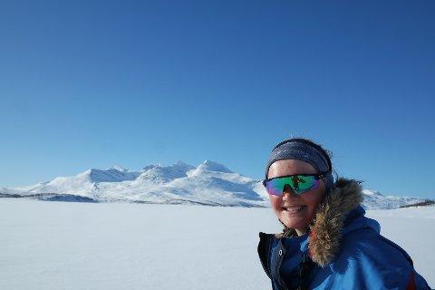 TUR: Margrete Hovda (21) har vært på tur med ski og pulk i over én måned.