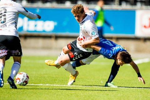 FORTJENT: Det var helt fortjent at Odd gikk seirende ut av kampen mot Stabæk på søndag Foto: Trond Reidar Teigen