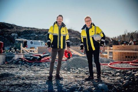VEKST: Lars Bratli (avdelingsleder Telemark) og William Skreosen (administrerende direktør) i Graf Entreprenør har hatt solid vekst de siste årene.