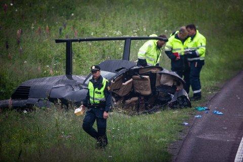 OMKOM: Kløfta-bosatte John Christian Solberg (46) omkom da helikopteret han førte styrtet torsdag kveld.