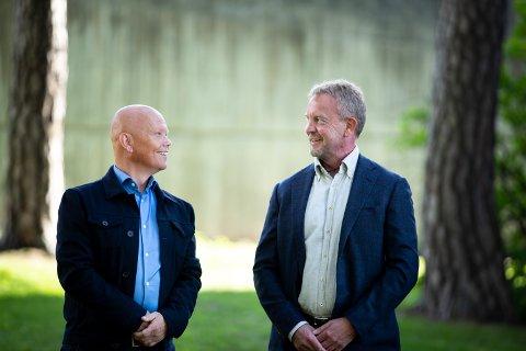 FORNØYD: Aspit-gründere, (tv) Geir Samland, Chief Commercial Officer og (th) Dag Helge Haskelås, CEO er fornøyd med salget og mener det vil styrke selskapet. Foto: Bo Mathisen