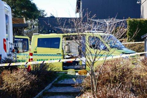 OMKOM: En 78 år gammel kvinne omkom i ulykka som skjedde i Turkisvegen i Porsgrunn. Foto: Theo Aasland Valen