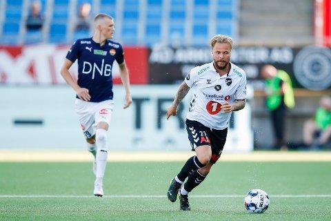 Sander Svendsen under eliteseriekampen i fotball mellom Strømsgodset og Odd på Marienlyst stadion.