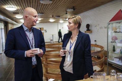 Bjørn Guldvog, helsedirektør, Helsedirektoratet og Karoline Bragstad i FHI. Arkivfoto: Vidar Ruud / NTB