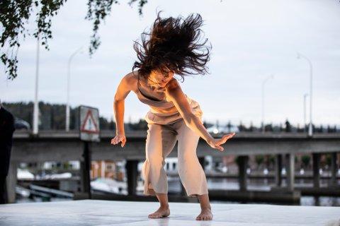 DANSER: Ida Haugen danset Kaolindans i Neptunparken.