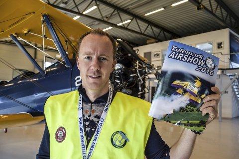 Flyshow: – Alt er klappet og klart og vi gleder oss til å vise publikum det beste flyshowet som noen gang er vist på Notodden, og lykkes vi nå, vil dette videreutvikles i årene som kommer, sier Magne Solberg i Telemark Airshow.