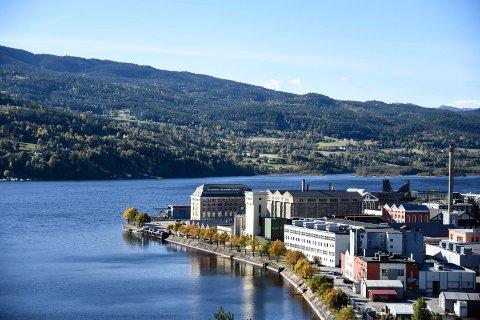 HYDROPARKEN: Det står 45 000 kvadratmeter bygningsmasse i Hydroparken på 80 mål tomt.