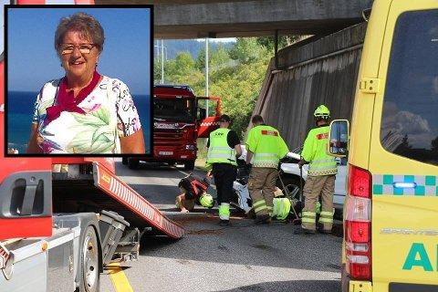 OLJESØL: Glatt veibane førte til kollisjonen i Porsgrunn. Begge bilene fikk store materielle skader, men de involverte personene skal ha kommet fra ulykken uten alvorlige skader.