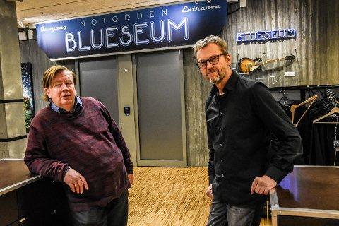 LEGGER NED: Romjula 2018: Styreleder Hans Kristian Lehmann (til venstre) og permittert daglig leder Espen Fjelle må stenge bluseumet fra nyttår. Nå er det klart at stiftelsen Europas blues senter blir avviklet.
