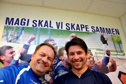 GODE MINNER: Karl Arne Lia synes det er synd Kenneth Dokken takker for seg som trener for Notodden Fotball, men forstår avgjørelsen. Han ønsker ham all mulig lykke til og håper han vil følge med på laget videre.