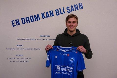 NYSIGNERING: Kristian Kjeverud Eggen (21) er første spiller som er hentet inn utenfra NFKs egne rekker.