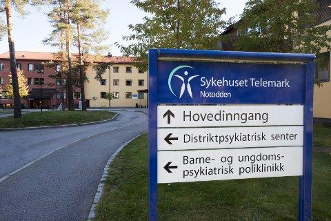 Notodden  20181003. Bilde av Sykehuset Telemark Notodden. Notodden sykehus Foto: Terje Bendiksby / NTB scanpix