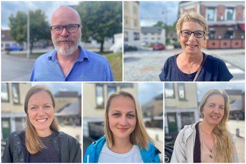 5 PÅ GATA: Øverst fra vesntre: Terje Malm, Janne Nærum. nederst fra venstre: Ingebjørg Nordbø, Ina Synøve Sjøbakken, Kristine Green Fudali.