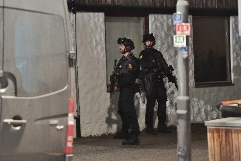 Det pågår en større politiaksjon i Kongsberg.