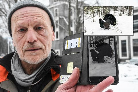 ANGREPET: Kjell Rørvik følte han kjempet for livet da han ble angrepet av denne rasende tiuren.