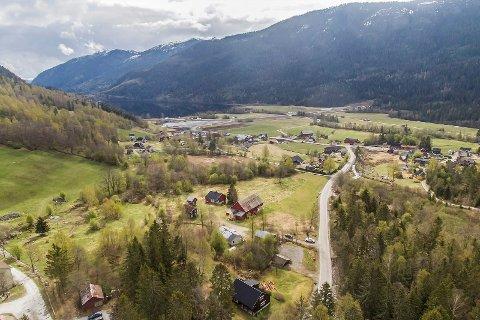 SENTRALT: Dalen, eller Opsalvegen 39, ligger sentralt til på Gvammen i Hjartdal, ikke langt fra E134 og Mælefjelltunellen.