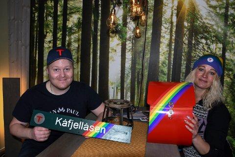 UTSATT: Thor Olav Sørensen og Silje Brokke i Notodden Turlag opplyser at den offisielle åpningen av Regnbueløypa til Kåfjellåsen er utsatt til 10. juni.