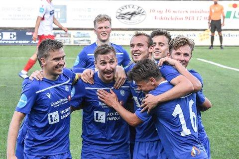 TRE MÅL: Melvin Frithzell ble helt tre mål mot Fram Larvik.