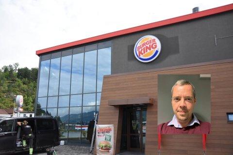 PÅVIST COVID-19: En ansatt på Burger King Notodden fikk påvist Covid-19 tirsdag 14. september. Vedkommende er i karantene, og tilfellet utløste 10 nærkontakter. Det bekrefter norgessjef i Burger King Olav Bæverfjord.