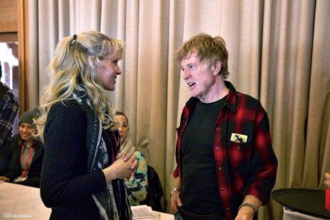 Grethe Bøe-Waal er i celebert film-selskap for tiden. Her er hun sammen med selveste Robert Redford under Sundance International Filmfestival.