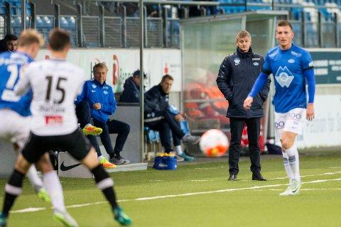 Ole Gunnar Solskjær så sitt Molde slite offensivt i 0-0-kampen mot Sogndal. Foto: Svein Ove Ekornesvåg / NTB scanpix
