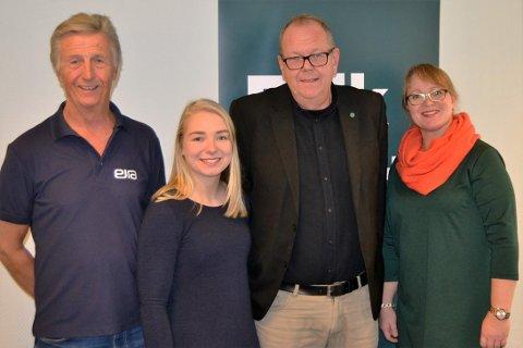 Venstres fire øverste. fra venstre Olbjørn Kvernberg, Amalie Birkhol, Pål Farstad og Lena Landsverk Sande.