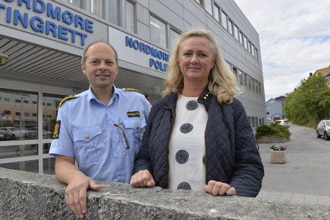 Kjell Arne Hestad og Marianne Frøland leder arbeidet med politireformen.