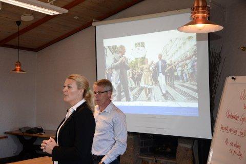 Ordfører Tove Henøen i Fræna og ordfører Egil Strand i Eide vil ha Eide, Gjemnes, Fræna og Averøy i et nytt lensmannsdistrikt.