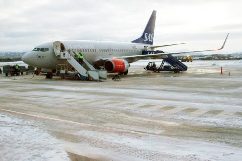Nedgang i trafikken ved Kristiansund lufthavn i februar.
