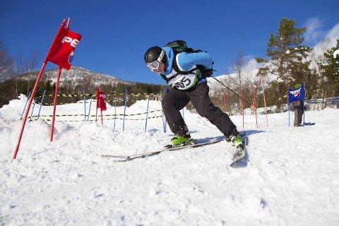 I FJELLTELEMARK: Johan Martin Gaupseth fra Batnfjord ble nummer tre i fjelltelemark.foto: Daniel Kvalvik