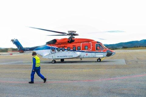 Shell sine flyvninger med CHC Helicopter Service fra Kristiansund er stanset inntil videre.