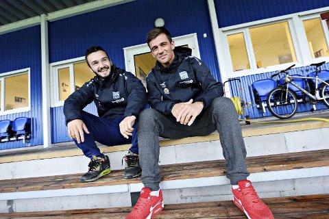 Legger følelsene til side: Begge har spilt for Raufoss. Men Kamer Qaka (til venstre) og Rocky Lekaj tenker ikke på det når de møter gamleklubben søndag klokken 15. – Det er kun seier som gjelder.