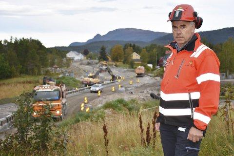 Prosjektleder: Odd Helge Innerdal regner med at 111 millioner er tilstrekkelig til å fortsette renoveringen av Tingvoll - Meisingset med uforminsket styrke utover i 2018.