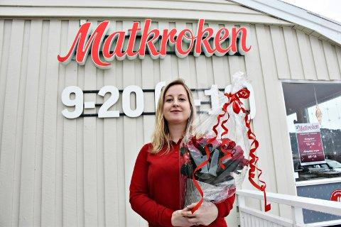 Settes pris på: Elise Finnøy fikk TKs julestjerne.