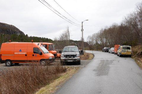 Sivilforsvaret lette tirsdag på nordøstsiden av Kvernberget.