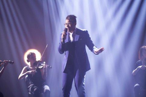 Tore Pedersen har levert sitt bidrag i finalen av Norske Talenter.
