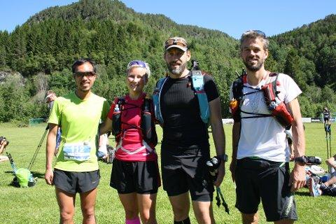 Daniel Kwong fra Australia,  May Settemsdal, Thomas Bremset og Robert Sørlie klar til start. Alle foto: Kåre Hendset