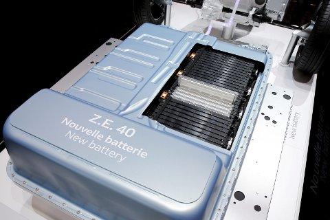CELLER: Batteripakkene består av en rekke battericeller. I Renault Zoes 40 kilowattime-versjon er det 192 battericeller.