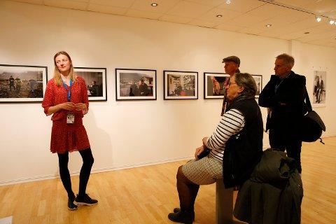 Fotojournalisten Andrea Gjestvang under Nordic Light.