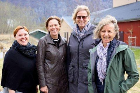 I oktober er det klart for ny oppdrettskonferanse i Sunndal. Fra venstre Jelena Kolarevic, Åsa Espmark og Ingrid Lein fra Nofima, og Anne Gulla Hagen fra Sunndal Næringsselskap.