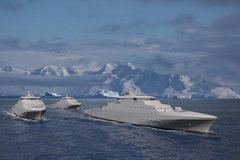 Forsvaret har bestilt tre nye kystvaktskip til en samlet verdi på 6,8 milliarder kroner. Fartøyene skal bygges ved verftet Vard Langsten i Møre og Romsdal.