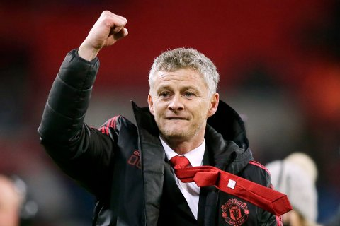 Ole Gunnar Solskjær ledet Manchester United til seier mot Tottenham søndag.